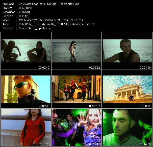 Atb Feat. York - Darude - Robert Miles video screenshot