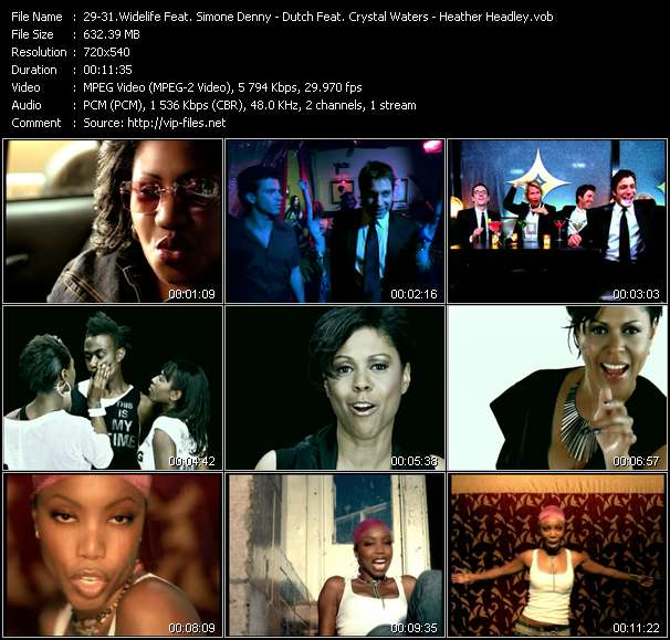 Widelife Feat. Simone Denny - Dutch Feat. Crystal Waters - Heather Headley video screenshot