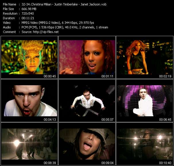 Christina Milian - Justin Timberlake - Janet Jackson video screenshot