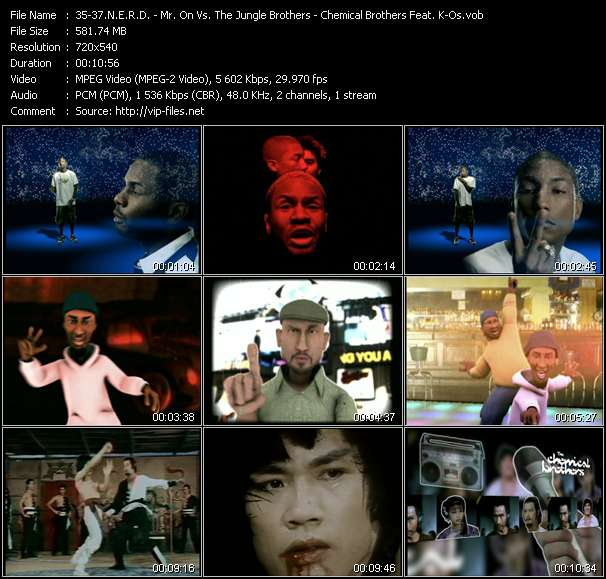 N.E.R.D. - Mr. On Vs. The Jungle Brothers - Chemical Brothers Feat. K-Os video screenshot