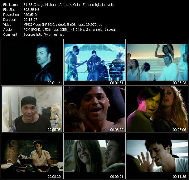 George Michael - Anthony Cole - Enrique Iglesias video screenshot