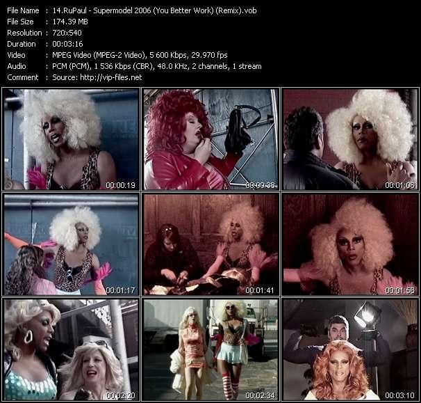 video Supermodel 2006 (You Better Work) (Remix) screen