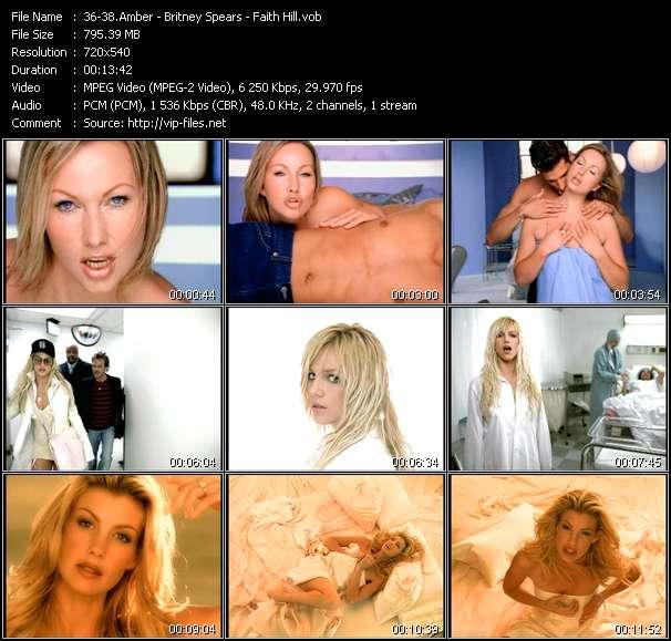 Amber - Britney Spears - Faith Hill video screenshot
