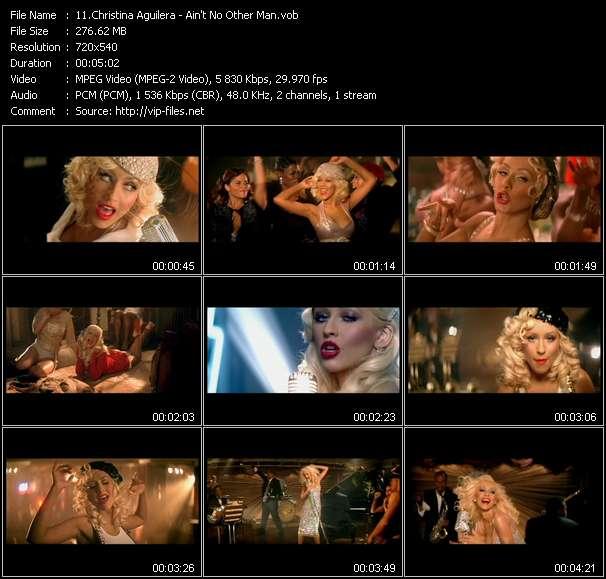 Christina Aguilera video screenshot