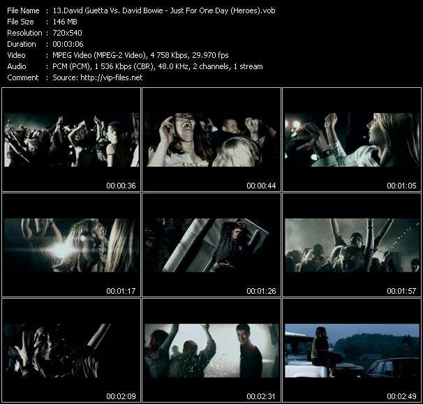 David Guetta Vs. David Bowie video screenshot