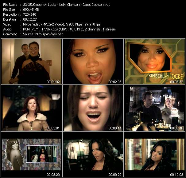 Kimberley Locke - Kelly Clarkson - Janet Jackson video screenshot