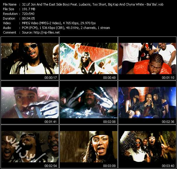 Lil' Jon And The East Side Boyz Feat. Ludacris, Too Short, Big Kap And Chyna White video screenshot