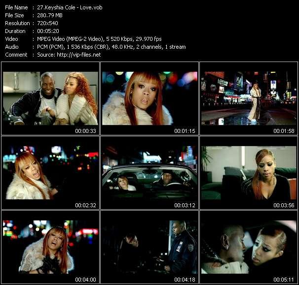 Keyshia Cole video screenshot