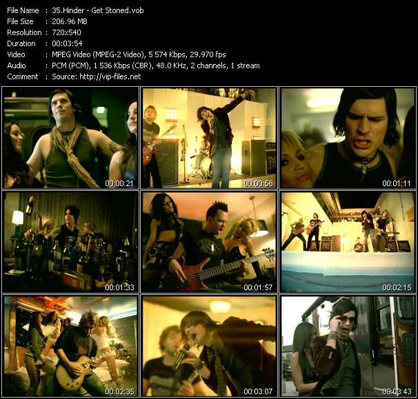 Hinder video screenshot