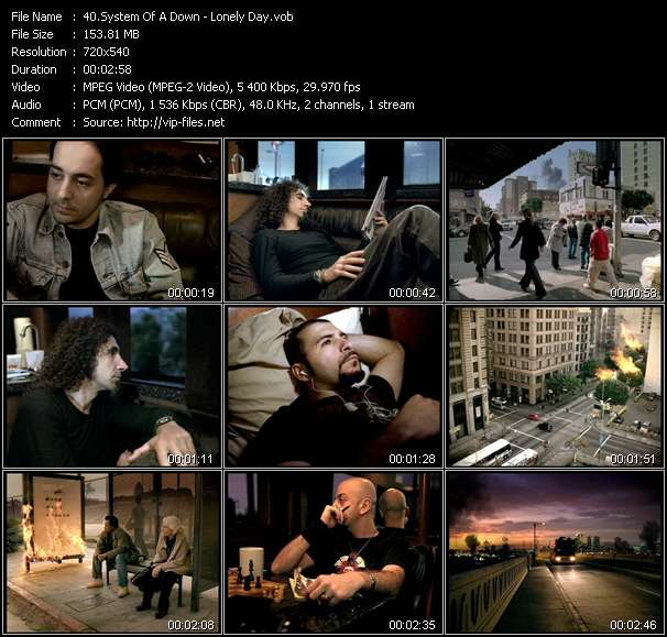 System Of A Down video screenshot