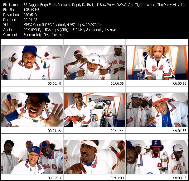 Jagged Edge Feat. Jermaine Dupri, Da Brat, Lil' Bow Wow, R.O.C. And Tigah video screenshot