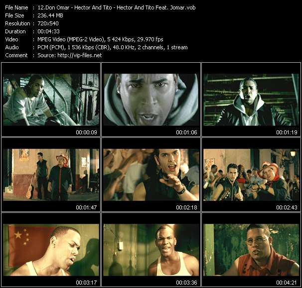 Don Omar - Hector And Tito - Hector And Tito Feat. Jomar video screenshot