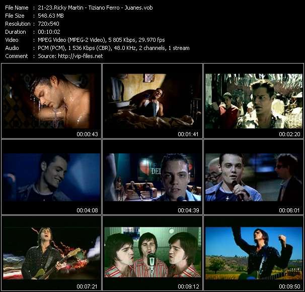 Ricky Martin - Tiziano Ferro - Juanes video screenshot