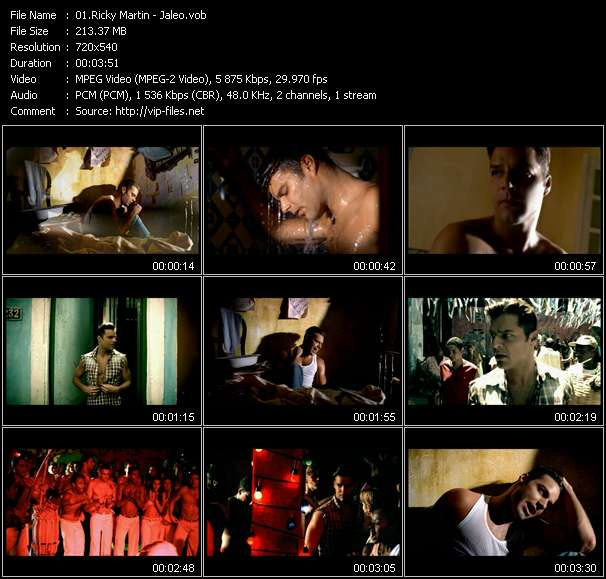 Ricky Martin video screenshot