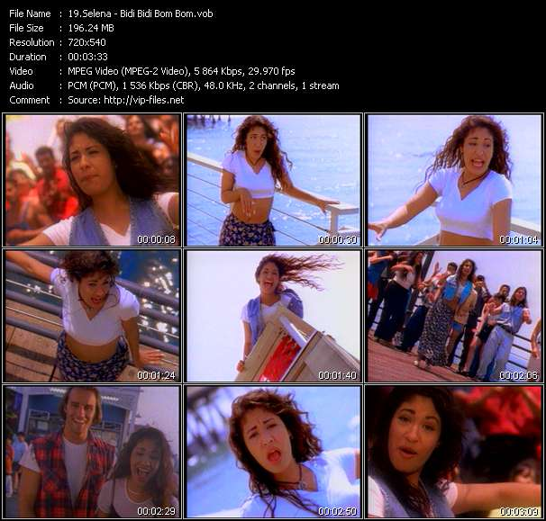 Selena video screenshot