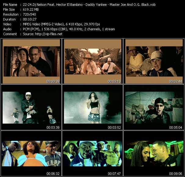 Dj Nelson Pres. Flow La Discoteka Feat. Hector El Bambino - Daddy Yankee - Master Joe And O.G. Black video screenshot