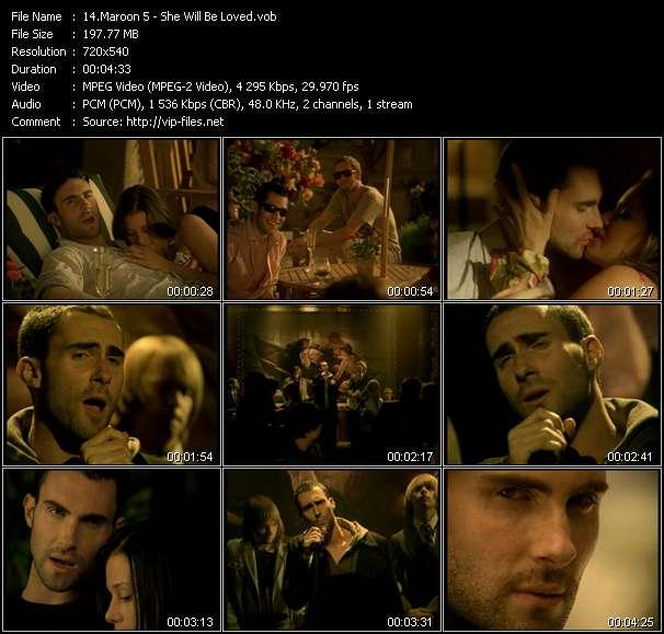 Maroon 5 video screenshot