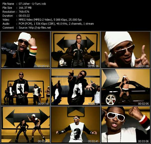 Usher video screenshot