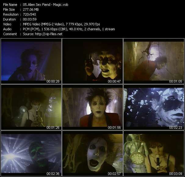 Alien Sex Fiend video screenshot