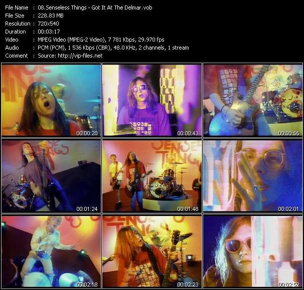 Senseless Things video screenshot