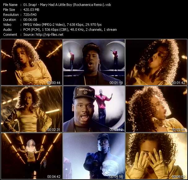 video Mary Had A Little Boy (Rockamerica Remix) screen