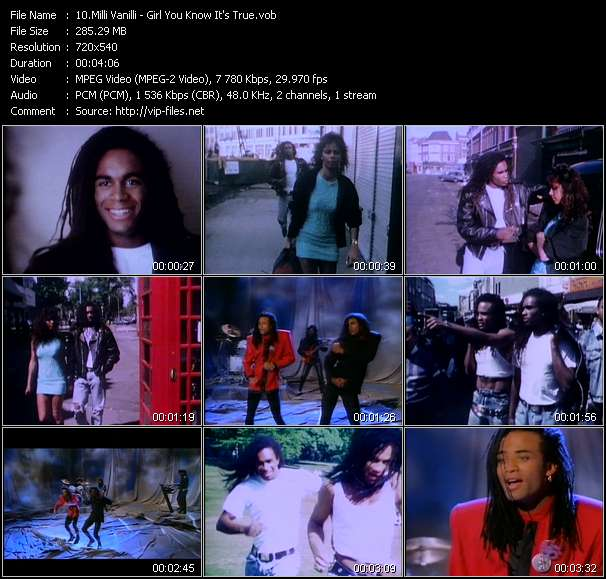 Milli Vanilli video screenshot