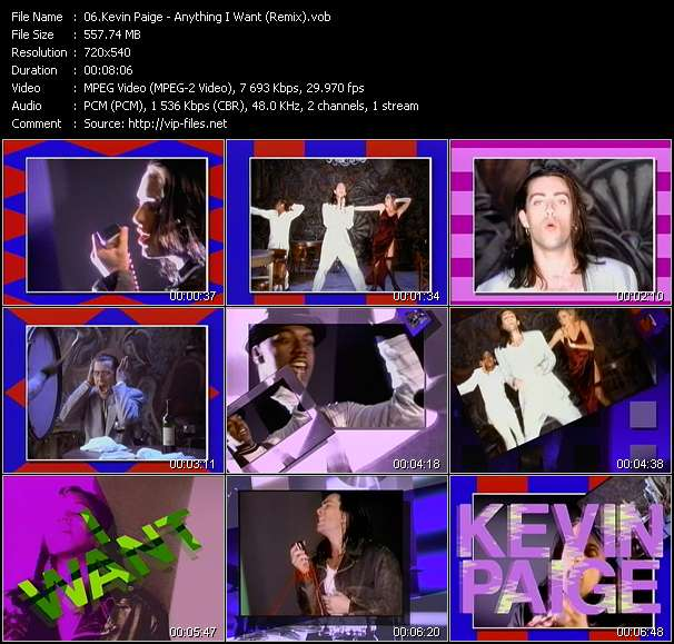 Kevin Paige video screenshot