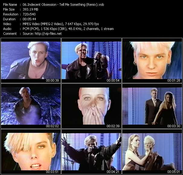 Indecent Obsession video screenshot