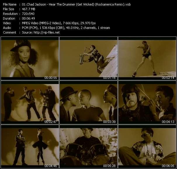 video Hear The Drummer (Get Wicked) (Rockamerica Remix) screen