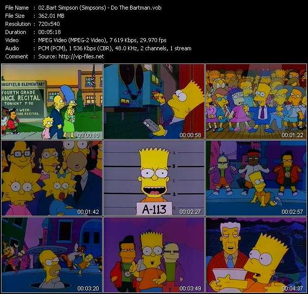 Bart Simpson (Simpsons) video screenshot