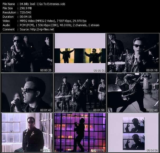 Billy Joel video screenshot