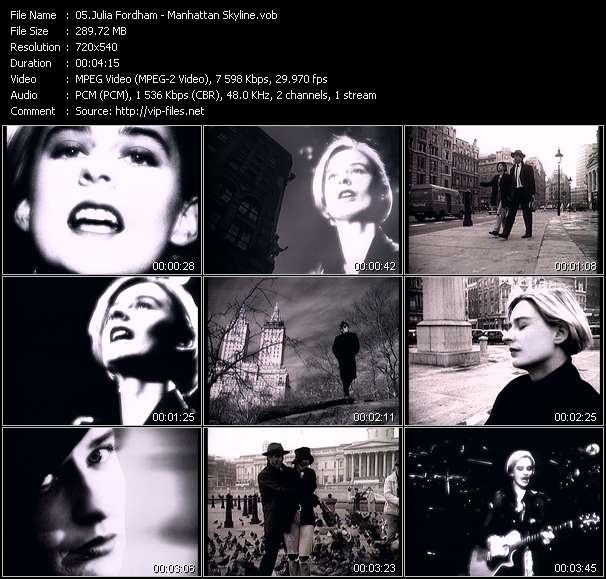 Julia Fordham video screenshot
