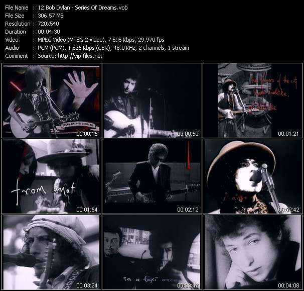 Bob Dylan video screenshot