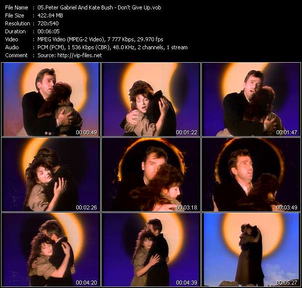 Peter Gabriel And Kate Bush video screenshot