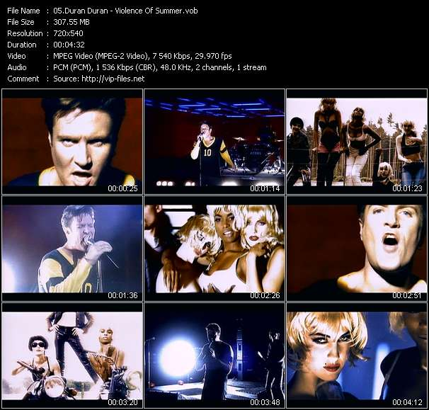 Duran Duran video screenshot