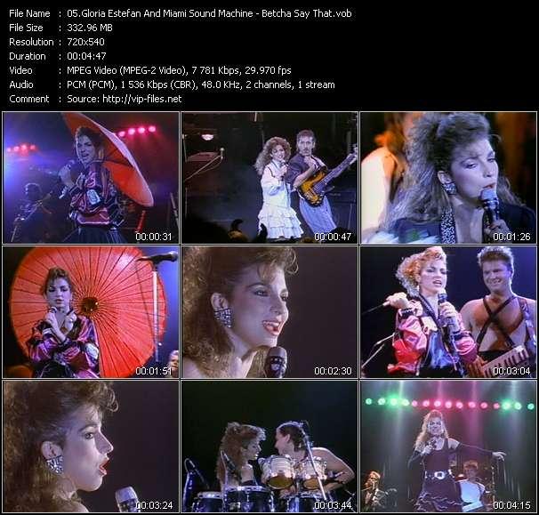 Gloria Estefan And Miami Sound Machine video screenshot