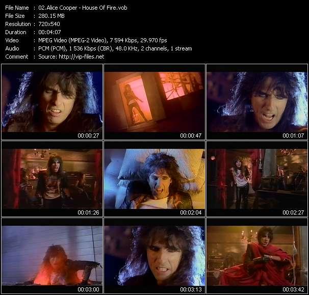 Alice Cooper video screenshot