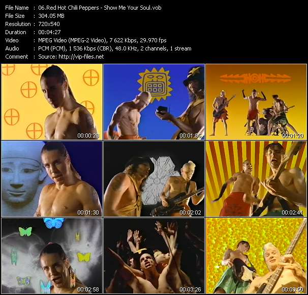 Red Hot Chili Peppers video screenshot