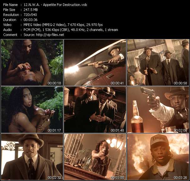 N.W.A. video screenshot