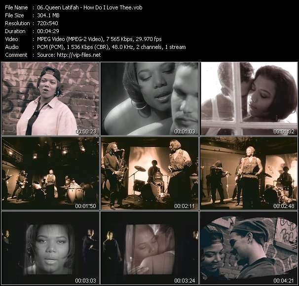 Queen Latifah video screenshot