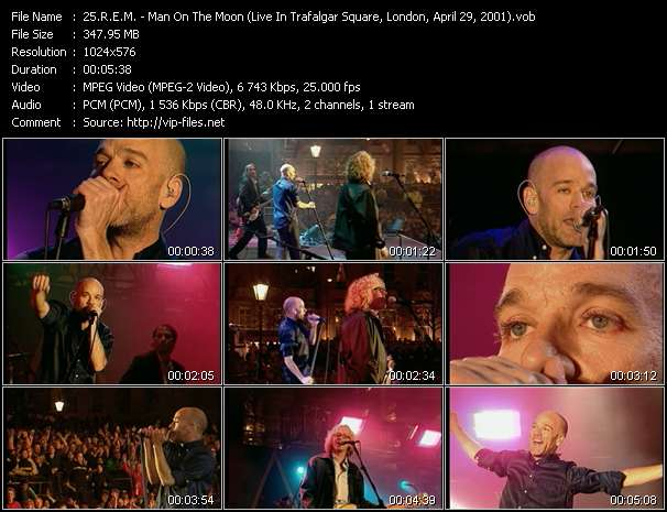 video Man On The Moon (Live In Trafalgar Square, London, April 29, 2001) screen