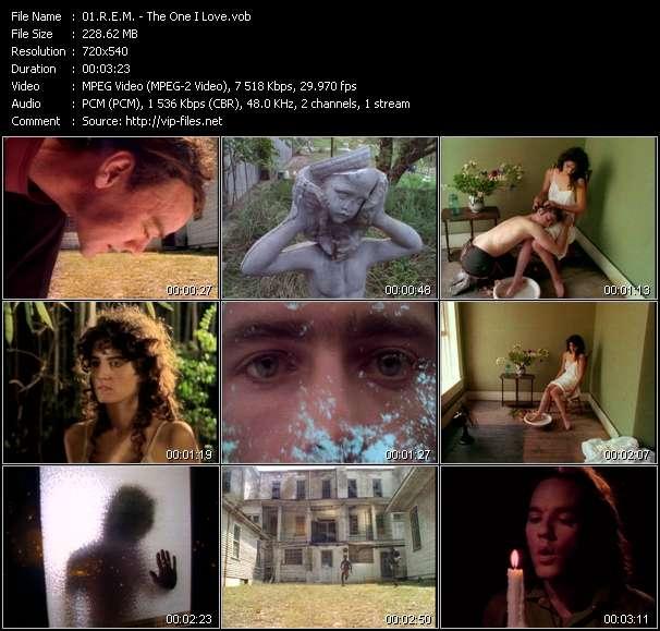 R.E.M. video screenshot