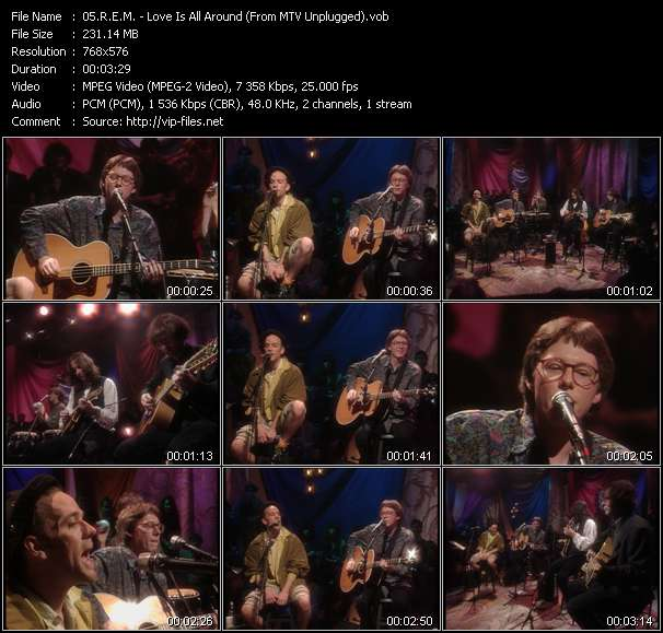 video Love Is All Around (From MTV Unplugged) screen