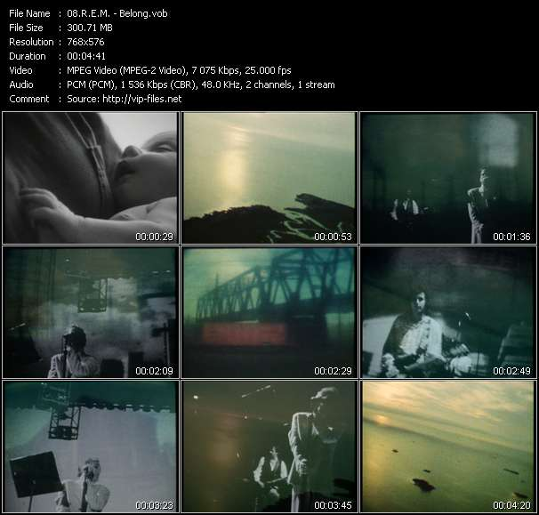 R.E.M. video screenshot