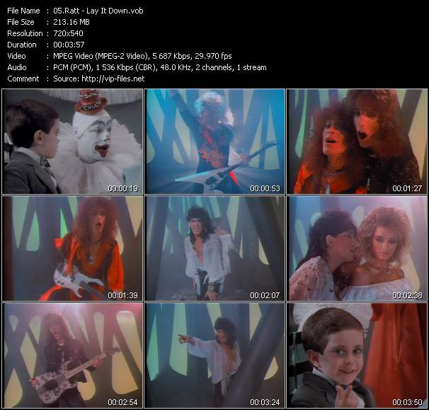 Ratt video screenshot
