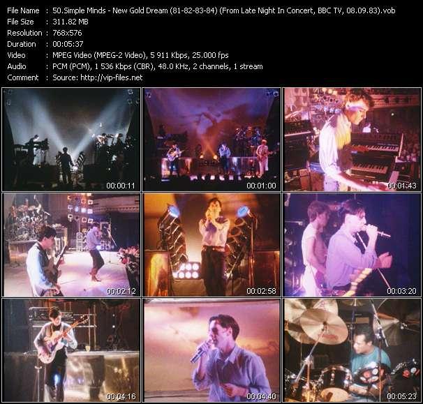 Simple Minds video screenshot