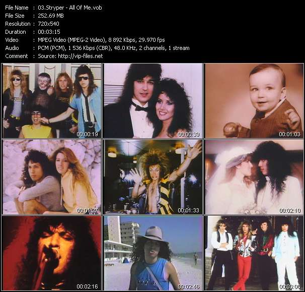 Stryper video screenshot