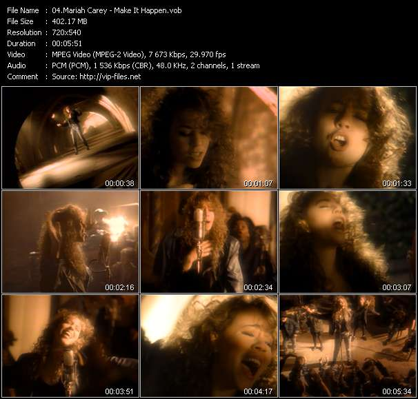 Mariah Carey video screenshot