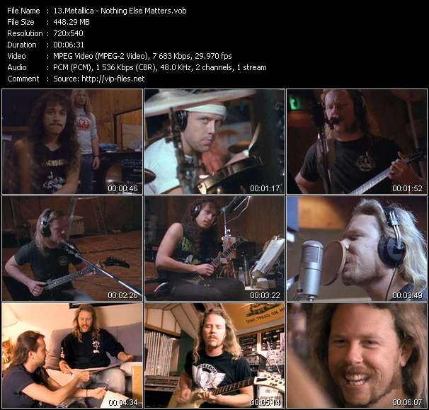 Metallica video screenshot