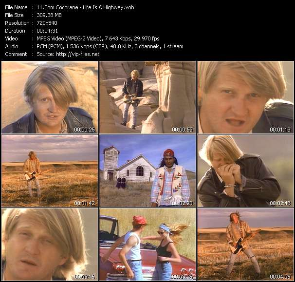Tom Cochrane video screenshot